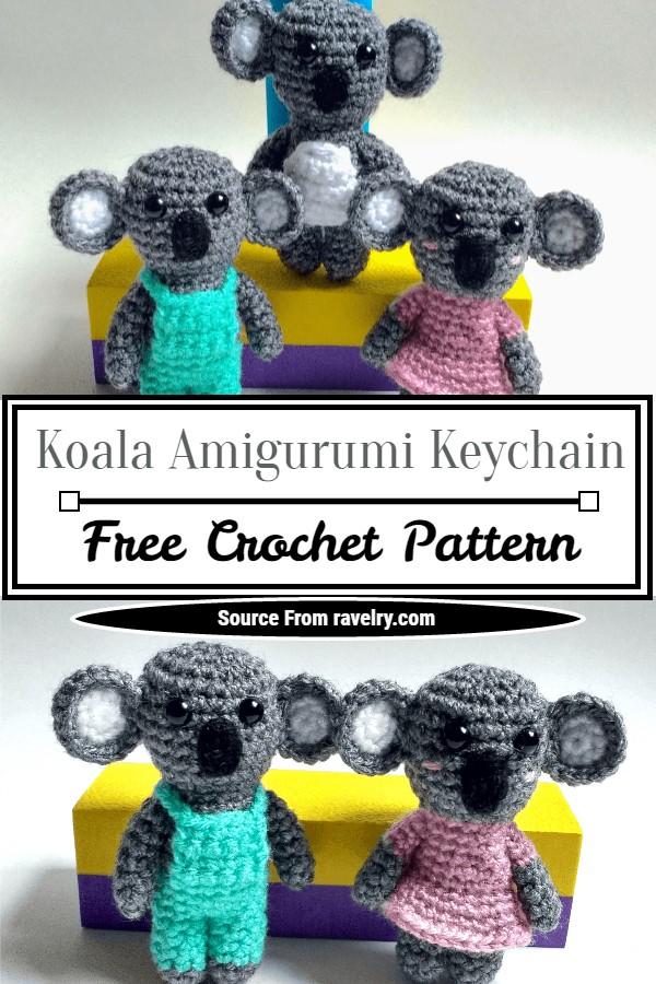 Free Crochet Koala Amigurumi Keychain Pattern