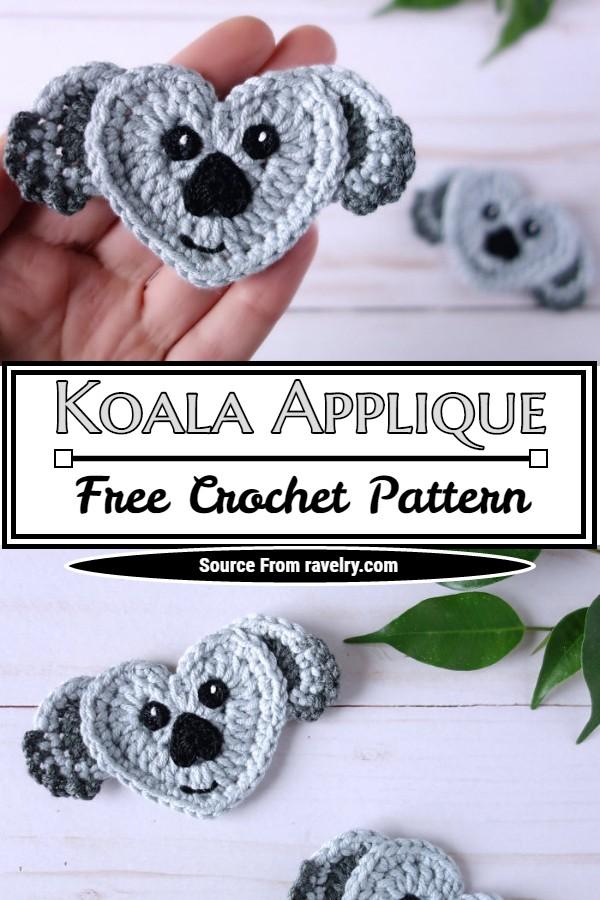 Free Crochet Koala Applique Pattern