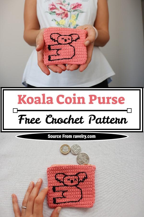 Free Crochet Koala Coin Purse Pattern