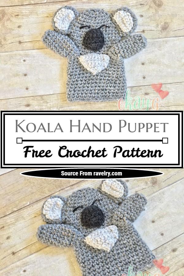 Free Crochet Koala Hand Puppet Pattern