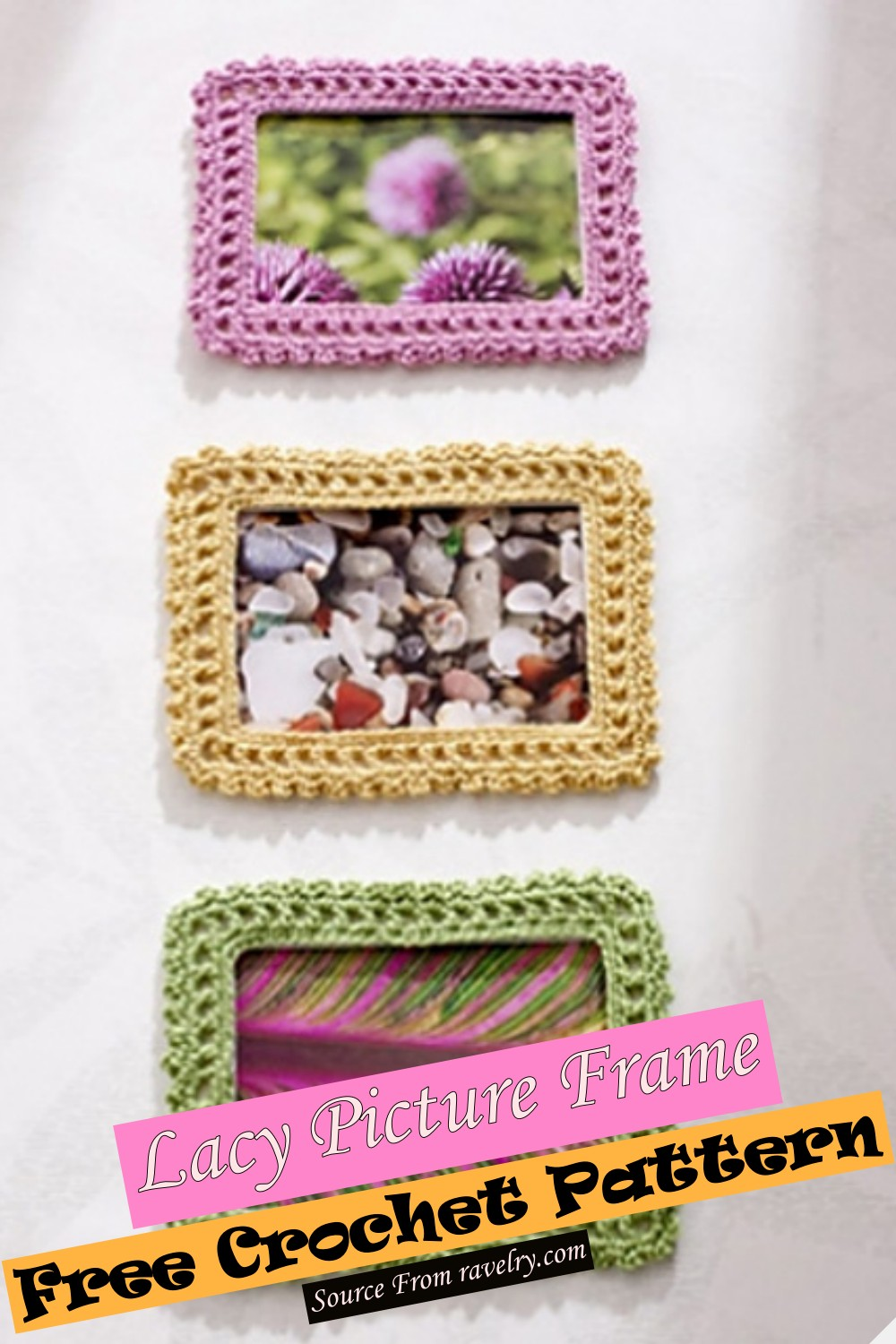 Free Crochet Lacy Picture Frame Pattern
