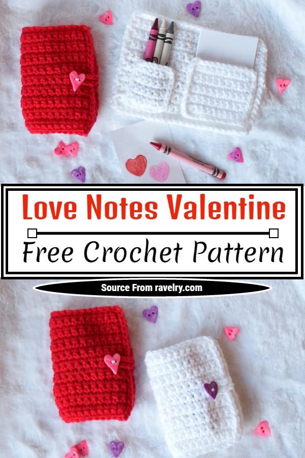 Free Crochet Love Notes Valentine Pattern