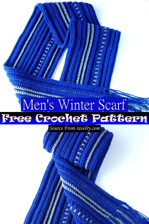Free Crochet Men's Winter Scarf Pattern