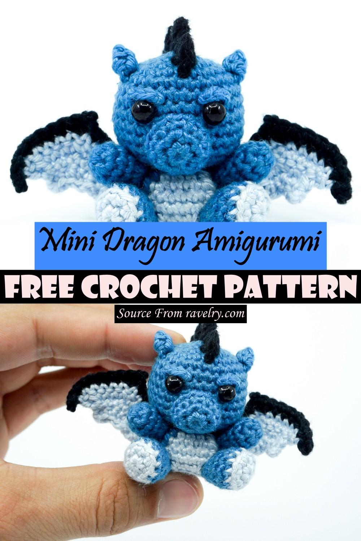 Free Crochet Mini Dragon Amigurumi Pattern