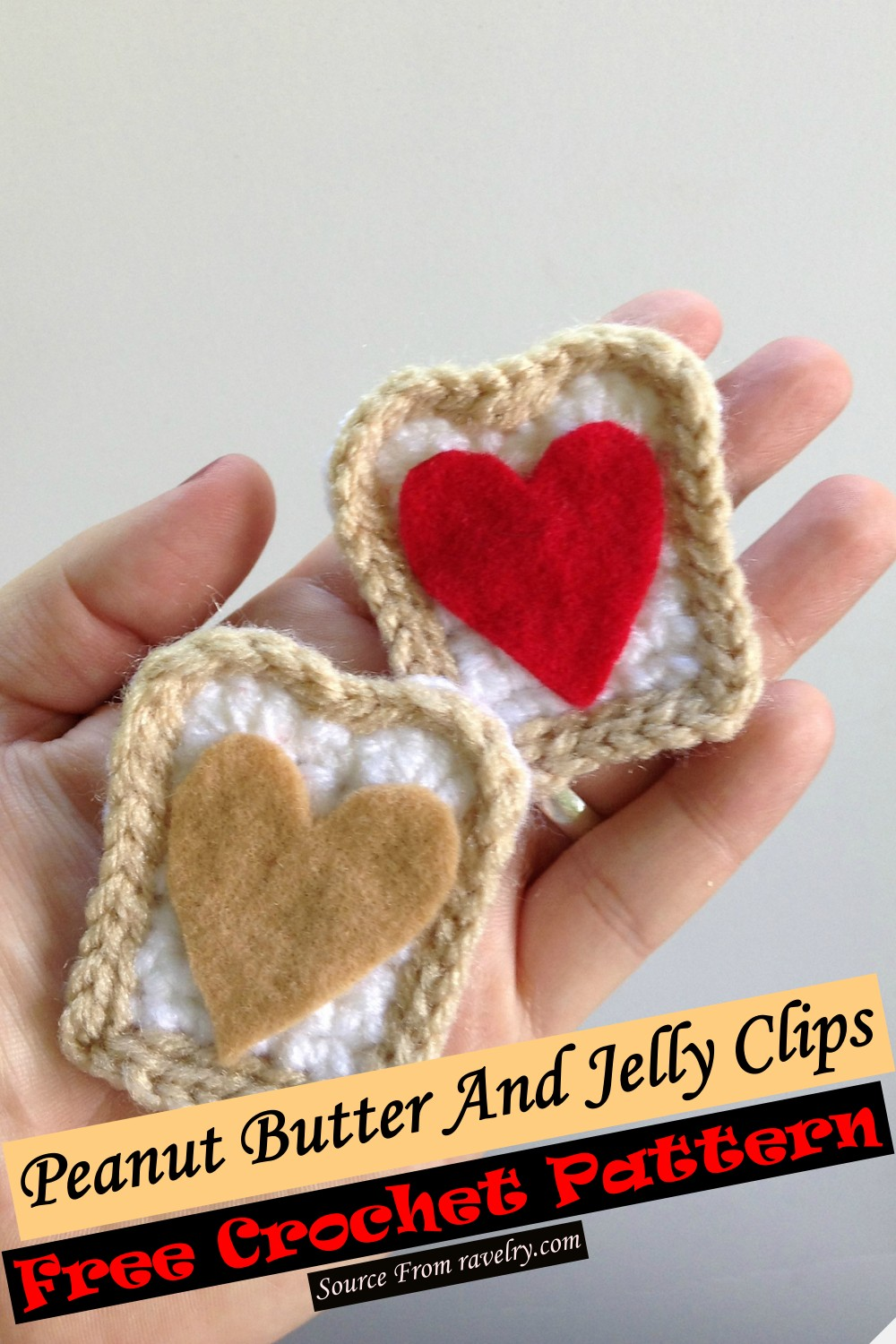 Free Crochet Peanut Butter And Jelly Clips Pattern