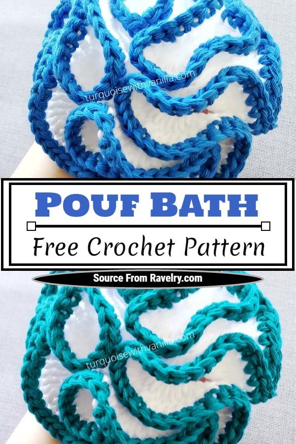Free Crochet Pouf Bath Pattern