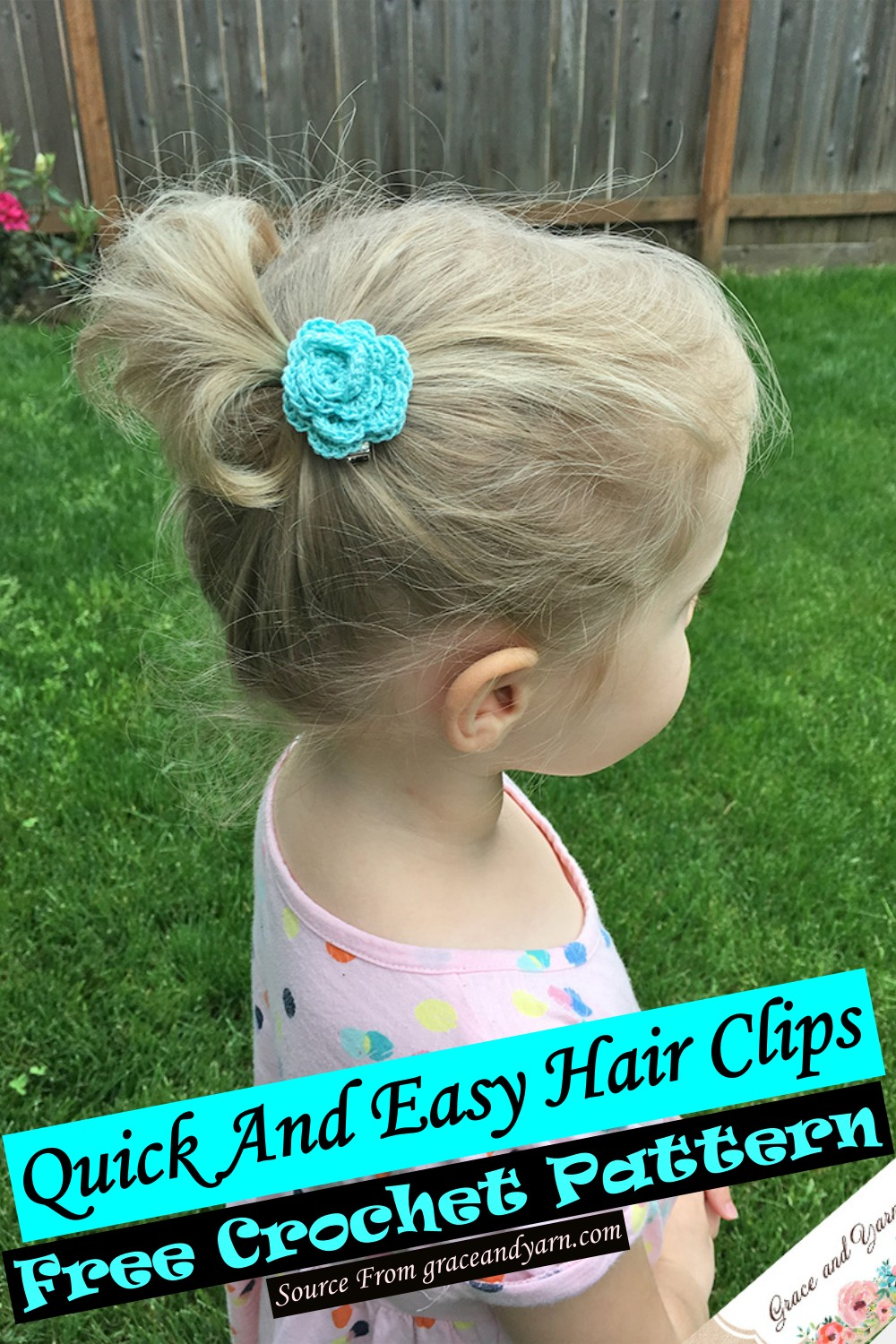 Free Crochet Quick And Easy Hair Clips Pattern