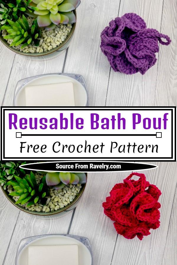 Free Crochet Reusable Bath Pouf Pattern