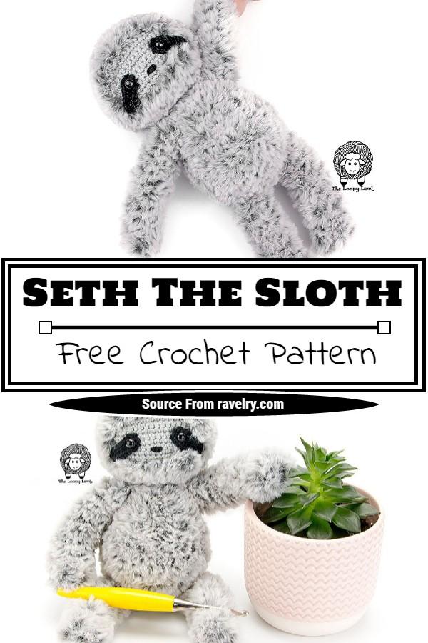 Free Crochet Seth The Sloth Pattern