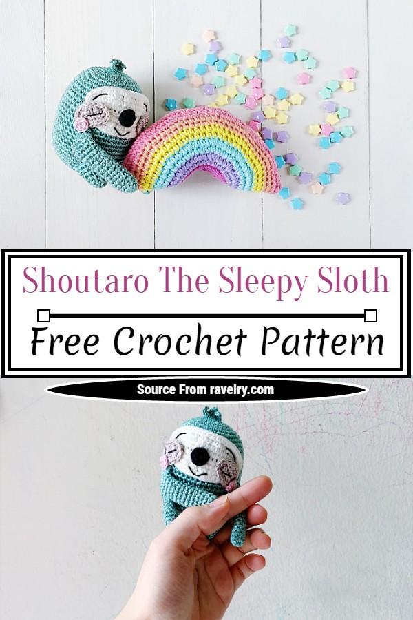 Free Crochet Shoutaro The Sleepy Sloth Pattern