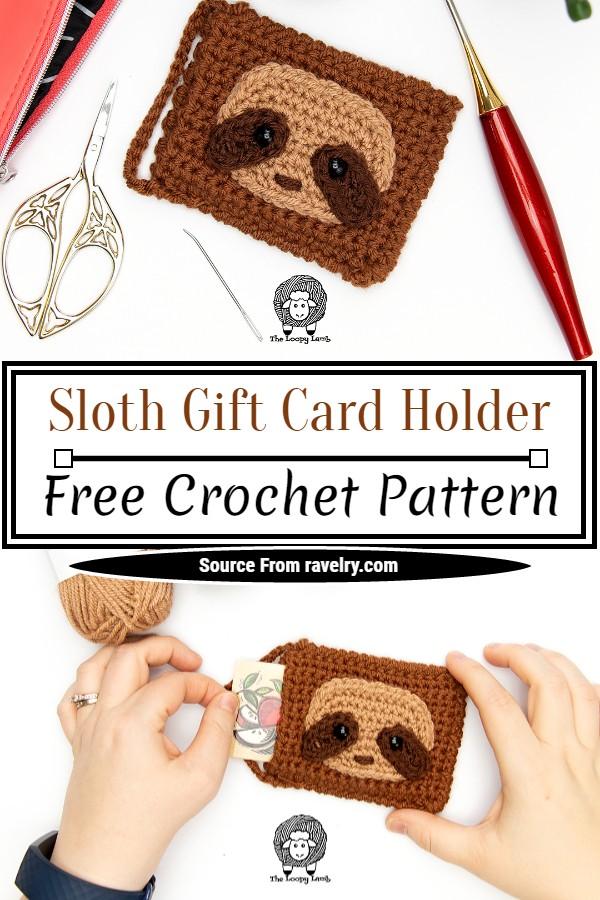 Free Crochet Sloth Gift Card Holder Pattern