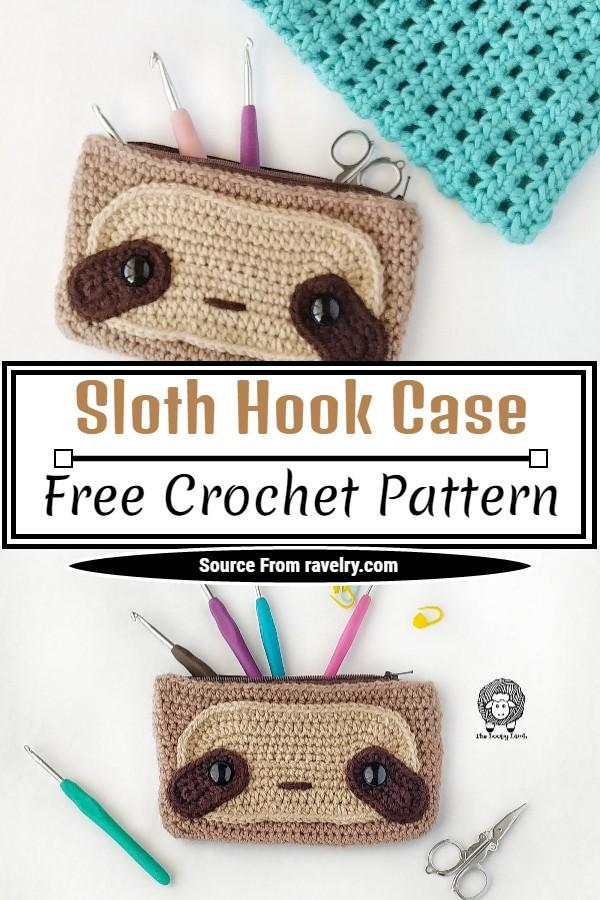 Free Crochet Sloth Hook Case Pattern