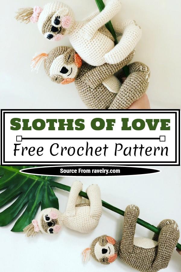 Free Crochet Sloths Of Love Pattern