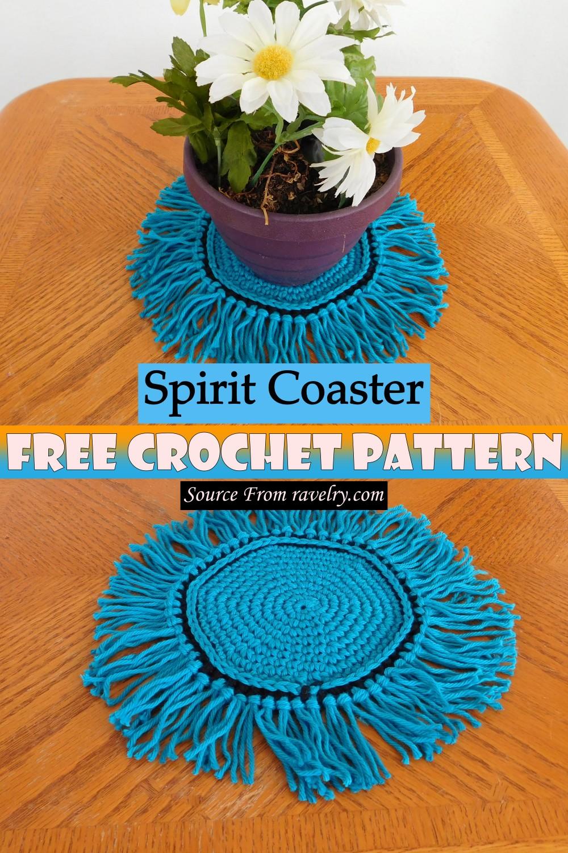 Free Crochet Spirit Coaster Pattern