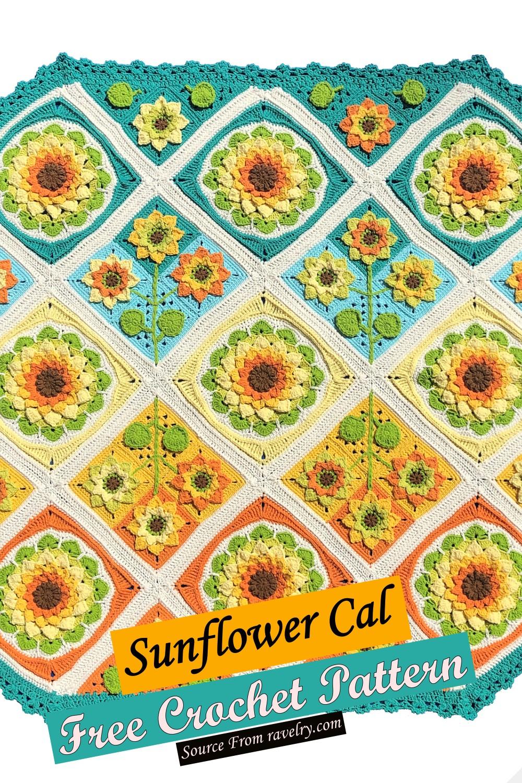 Free Crochet Sunflower Cal Pattern