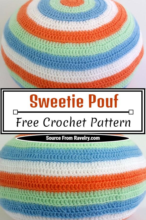 Free Crochet Sweetie Pouf Pattern