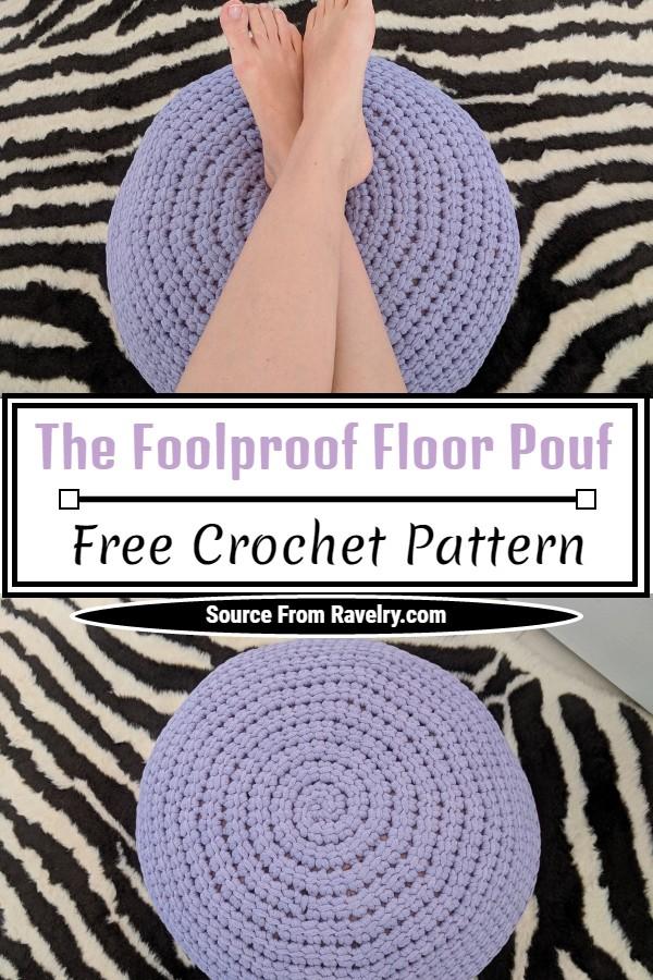 Free Crochet The Foolproof Floor Pouf Pattern