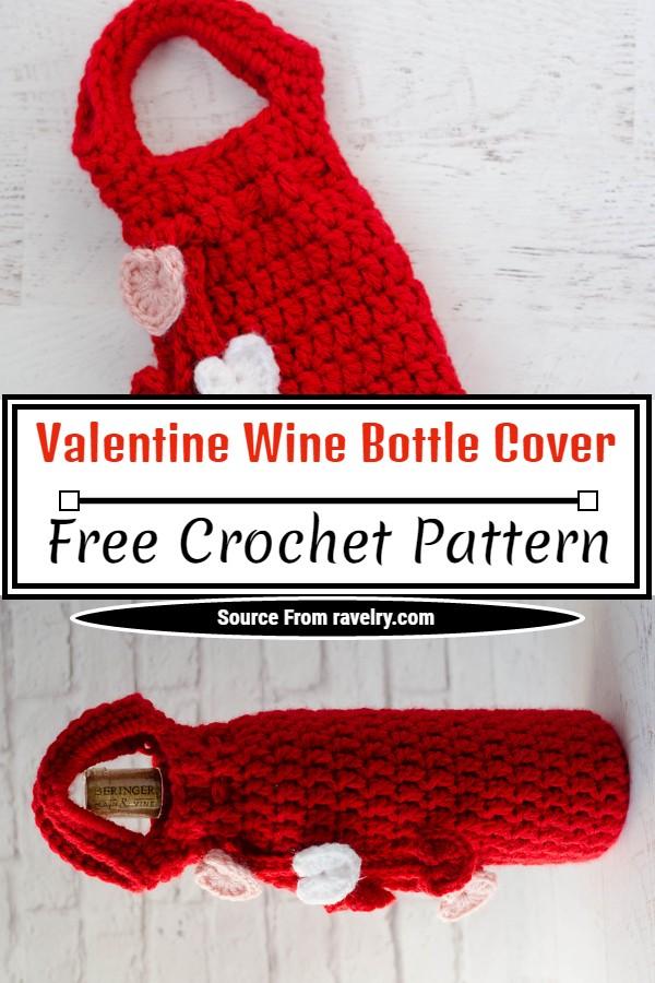 Free Crochet Valentine Wine Bottle Cover Pattern
