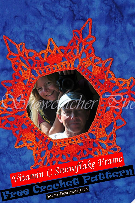 Free Crochet Vitamin C Snowflake Frame Pattern