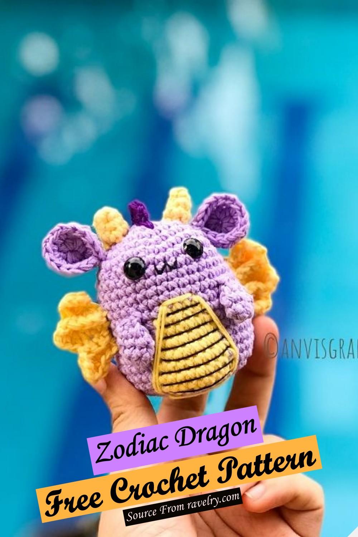 Free Crochet Zodiac Dragon Pattern