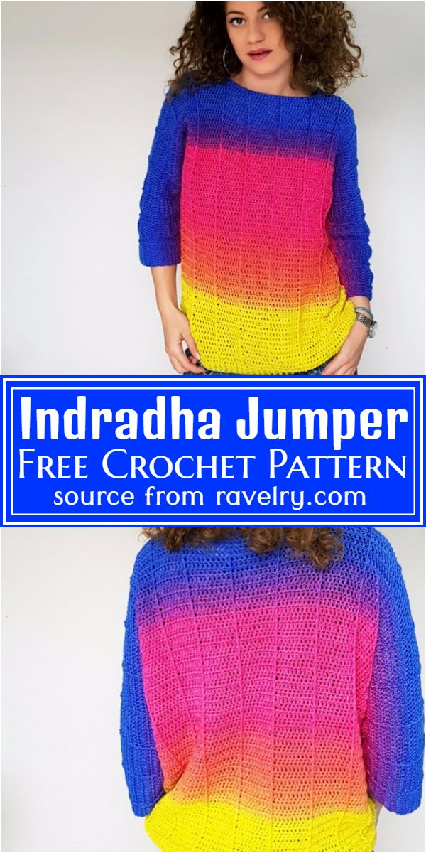 Indradha Crochet Jumper Free Pattern