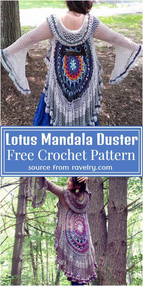 Lotus Mandala free Pattern