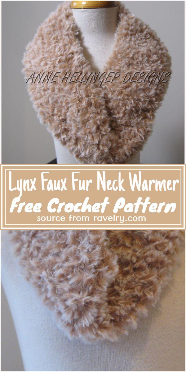 Lynx Faux Fur Crochet Neck Warmer Free Pattern