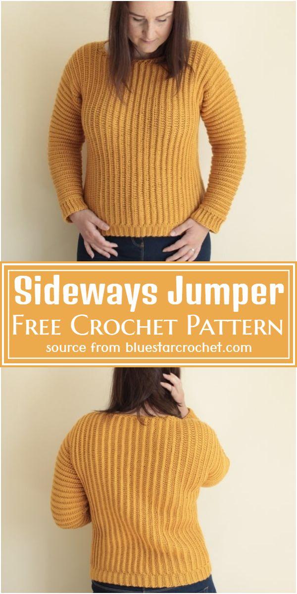 Sideways Jumper Crochet Pattern