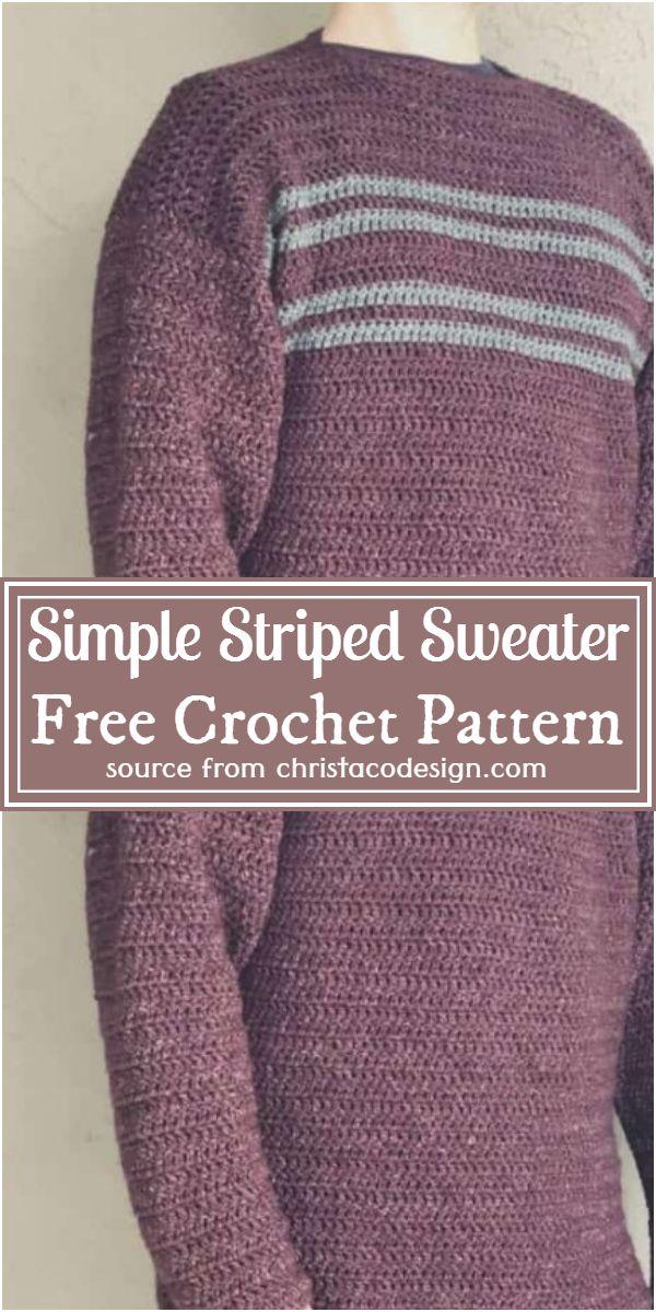 Simple Striped Sweater Crochet Pattern For Beginners