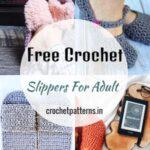 Easy Free Crochet Slippers For Adult