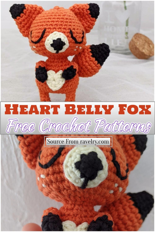 Crochet Heart Belly Fox Pattern