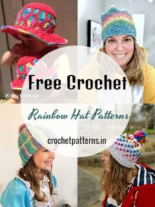 Crochet Rainbow Hat Patterns