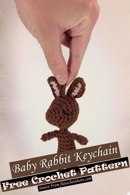 Free Crochet Baby Rabbit Keychain Pattern