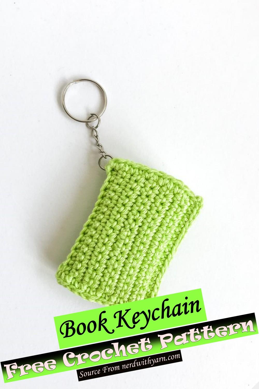 Free Crochet Book Keychain Pattern