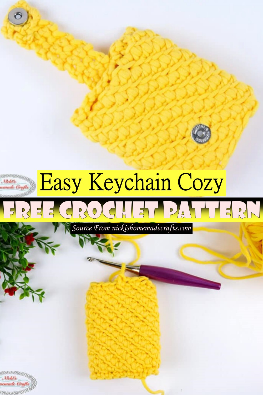 Free Crochet Easy Keychain Cozy Pattern