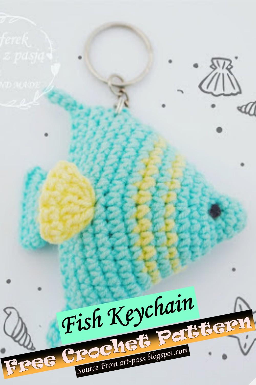 Free Crochet Fish Keychain Pattern
