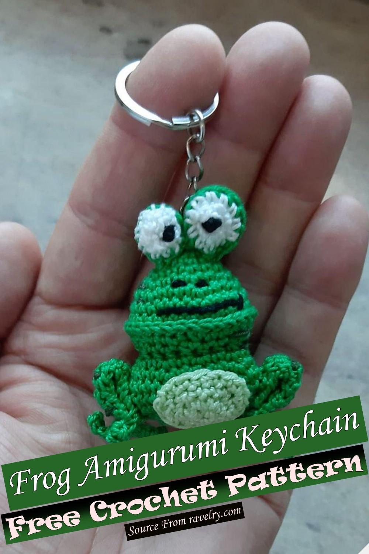 Free Crochet Frog Amigurumi Keychain Pattern