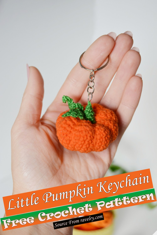 Free Crochet Little Pumpkin Keychain Pattern