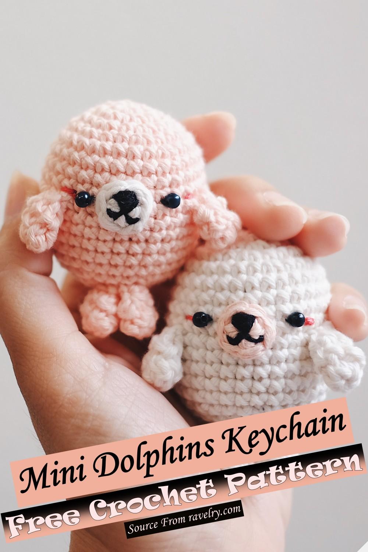 Free Crochet Mini Dolphins Keychain Pattern