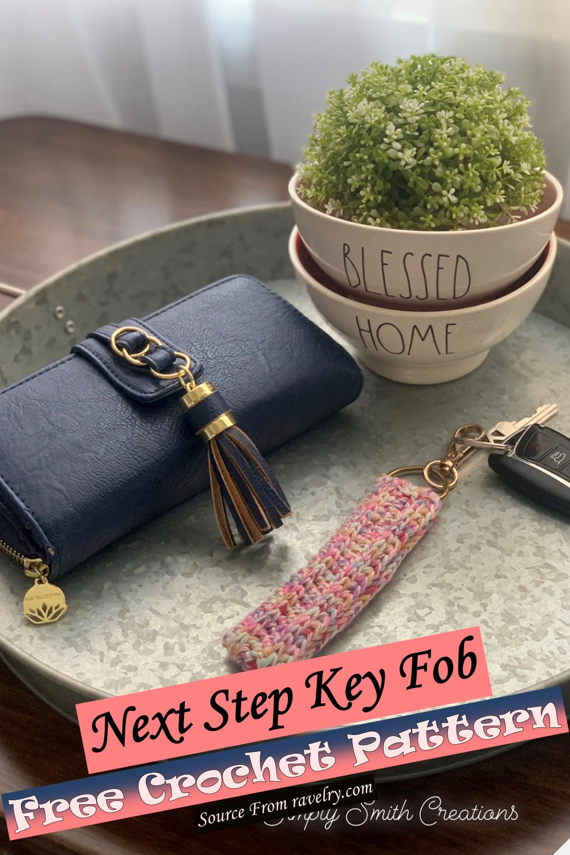 Free Crochet Next Step Key Fob Pattern