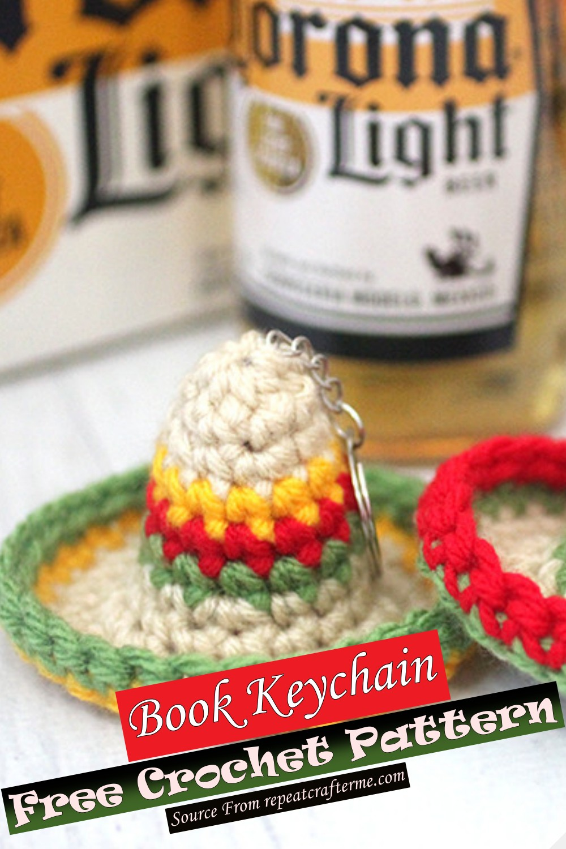 Free Crochet Sombrero Keychain Pattern