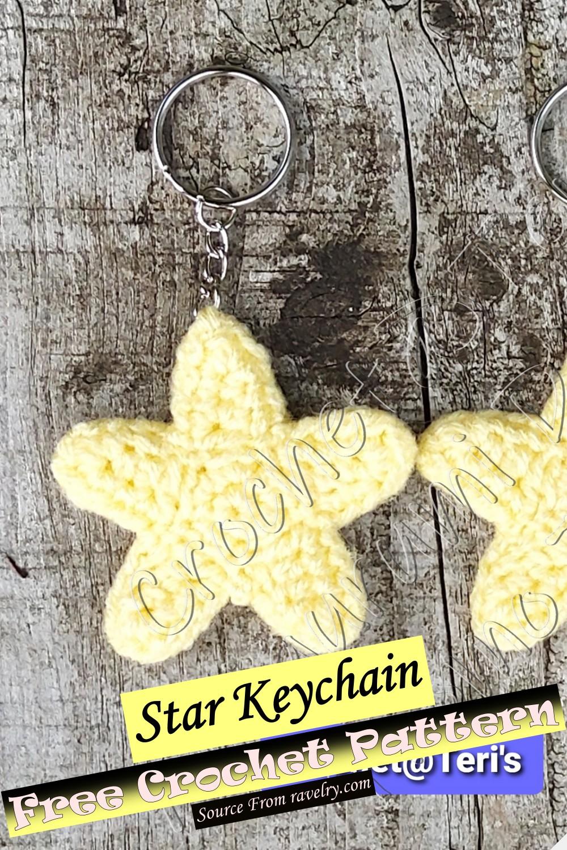 Free Crochet Star Keychain Pattern