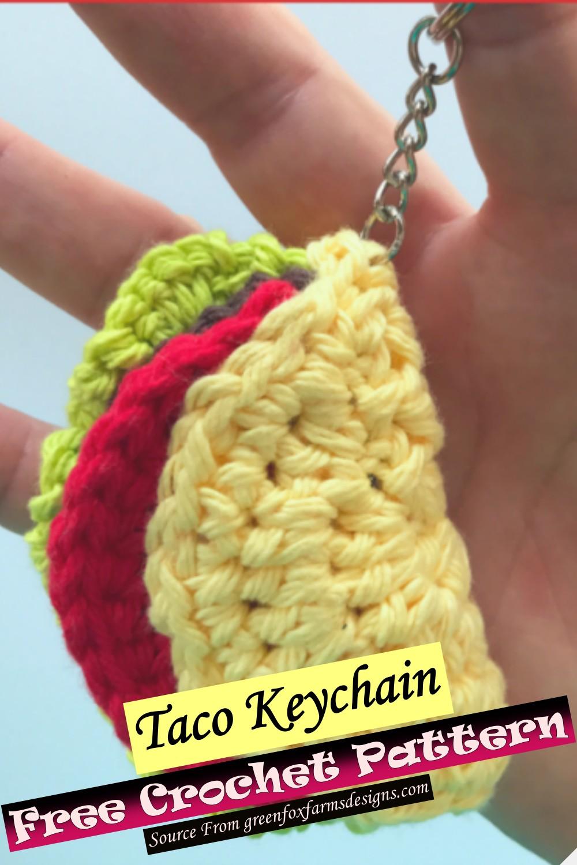 Free Crochet Taco Keychain Pattern 1
