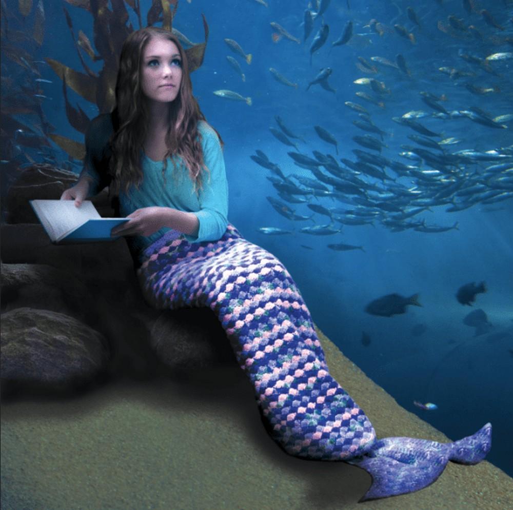 Crochet A Wearable Afghan Mermaid Tail