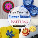 10 Free Crochet Flower Brooch Patterns