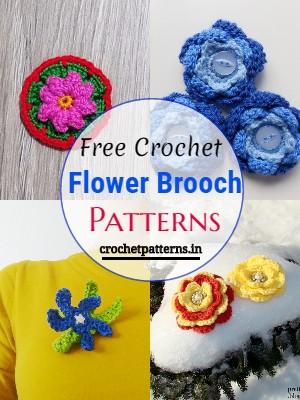Crochet Flower Brooch Patterns