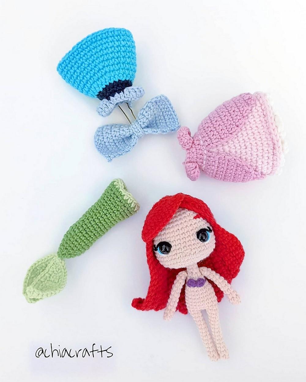 Crochet Little Mermaid Amigurumi Pattern