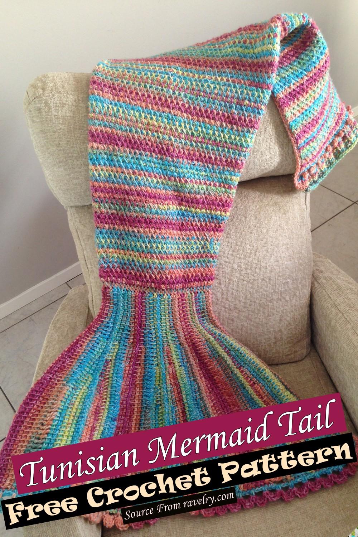 Crochet Tunisian Mermaid Tail Pattern 1