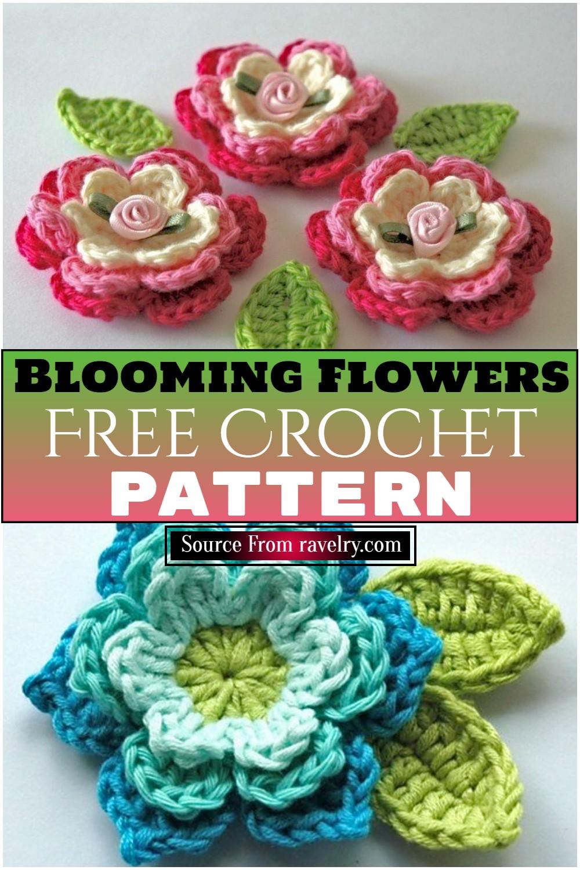 Free Crochet Blooming Flowers Pattern