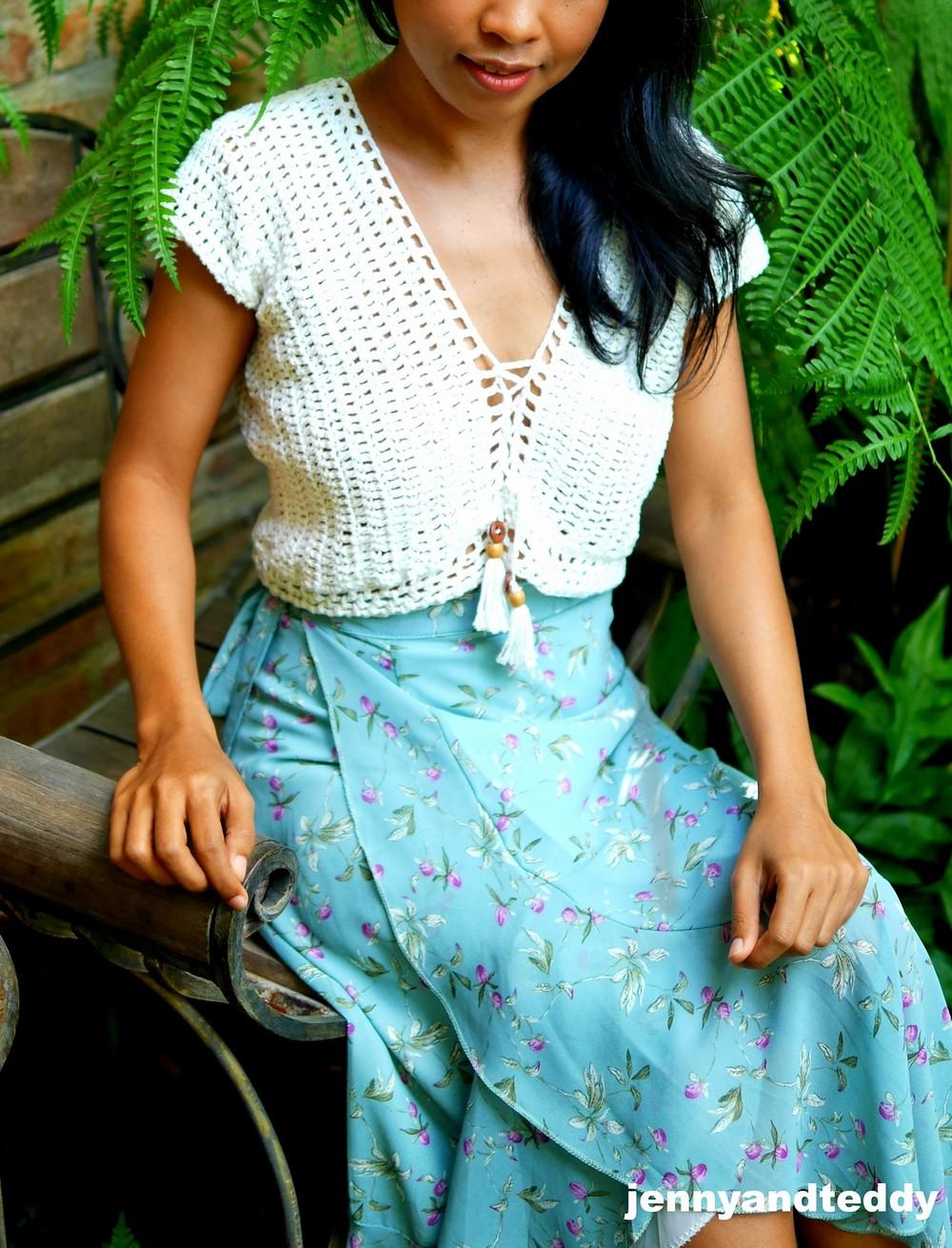 Free Crochet Boho Dream Crop Top Pattern